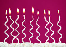White birthday candles Stock Photography