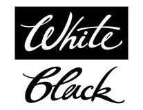 White Black. Colorful inscription of words White and Black Royalty Free Stock Image