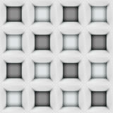 White and black abstract cubes 3D seamless pattern. Background Vector illustration in eps10 Royalty Free Stock Photography