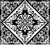 White and black abstract square pattern Stock Image