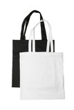 White and black bags Royalty Free Stock Image