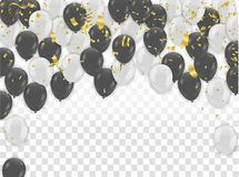 White and black balloons design. Celebration Vector illustration.  Stock Photos