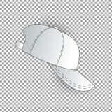 White and black baseball cap icon set. Front view. Design template closeup in . Mock-up for branding and advertise isolated Stock Images