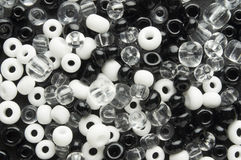 White and black beads Royalty Free Stock Photos