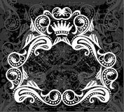 White & black border pattern Royalty Free Stock Photography