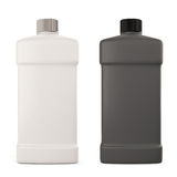 White and black bottle with detergent Stock Photos