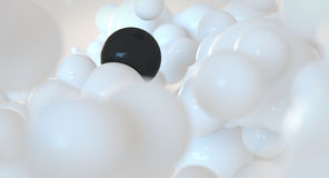 White and black bubbles - spheres - abstract cloud concept Stock Image