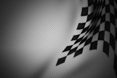 White and black carbon fiber background. Checkered pattern. 3d illustration material design. sport racing style vector illustration