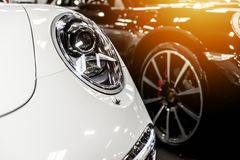 White and black cars Royalty Free Stock Photography