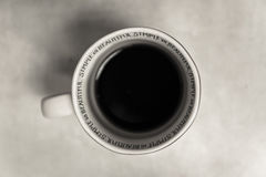 White and Black Ceramic Mug With Coffee Royalty Free Stock Images