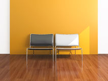 White and black chair Royalty Free Stock Photography