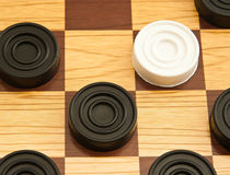 White and black checkers Royalty Free Stock Image