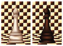 White and Black Chess Bishop Stock Images