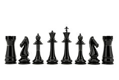 White and black chess isolated on white background Royalty Free Stock Image