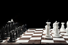 White and black chess pieces Stock Photo