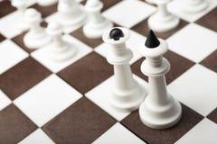 White and black chess pieces Stock Photos