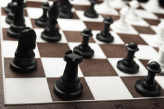 White and black chess pieces Royalty Free Stock Image