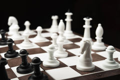 White and black chess pieces Stock Image