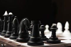 White and black chess pieces Royalty Free Stock Images