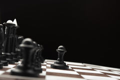 White and black chess pieces Stock Photography