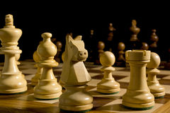 White and black chess pieces Stock Photos