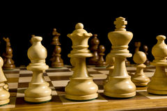 White and black chess pieces Royalty Free Stock Photo