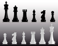 White and black chess Stock Image