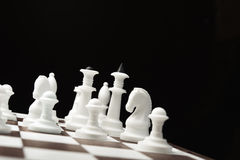White and black chess pieces Royalty Free Stock Photos
