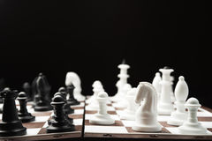 White and black chess pieces Stock Images