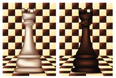 White and Black Chess Rook Stock Image
