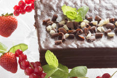 White and black chocolate cake Royalty Free Stock Photography