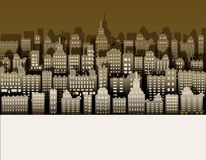 White Black City Paper, Nice Background For Urban Advert Stock Photos