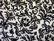 White and black colors fabric texture Stock Photo