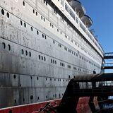 White and Black Cruise Ship Royalty Free Stock Photography