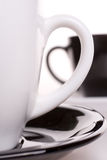White and black cup of tea Stock Photo
