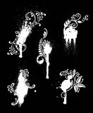 White on black designs Royalty Free Stock Photography