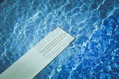 White and Black Diving Board Stock Photography