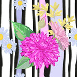 White and black fascia with flowers Stock Photography