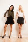White and black fashoin women Stock Photos