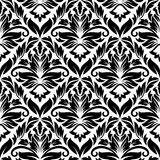 White and black floral seamless Royalty Free Stock Images