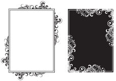 White and black frames. Decorative template grunge background, illustration Stock Photography