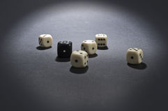 White and black gambling dices. Royalty Free Stock Photography