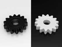 White and black gear Stock Photo