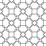 White and black geometric ornament. Seamless pattern. For web, textile and wallpapers Royalty Free Stock Images
