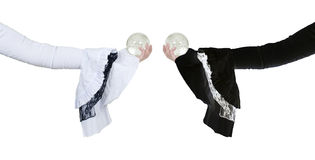 White and black gothic lace and crystal ball Stock Images