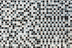 White, black and grey mosaic tiles. In a bathroom royalty free illustration
