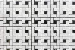 The white and black grid mosaics Stock Photo