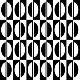White and black half oval on white and black rectangles. Royalty Free Stock Photos