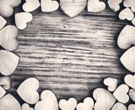 White and black heart frame Stock Photos