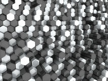 White black hexagons Stock Photography
